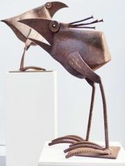 Chris Kircher, Skulpturen aus Schrott, Vogelpaar 4