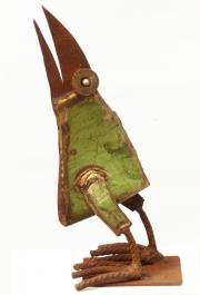 Chris Kircher, Vogelskulptur aus Schrott 5