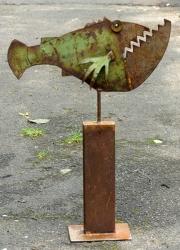 Chris Kircher, Fisch aus Stahlschrott
