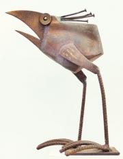 Chris Kircher, Skulpuren aus Schrott, Vogel 30