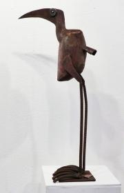 Chris Kircher, Vogelskulptur aus Schrott 3