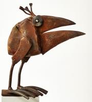 Chris Kircher, Vogelskulptur aus Schrott 4