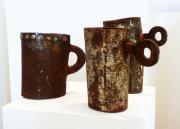Chris Kircher, Skulptur aus Stahl, 3 Becher