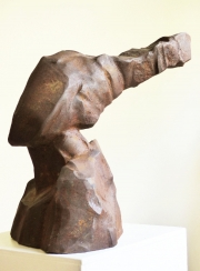 Chris Kircher, Skulptur aus Stahl, Maedchenkopf #1