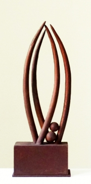 Chris Kircher, Skulptur aus Stahl, Metamorphose