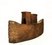 Chris Kircher, Skulptur aus Stahl, Boot