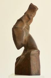Chris Kircher, Skulptur aus Stahl, Maedchenkopf #2