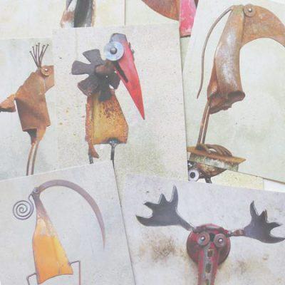 postcards birds